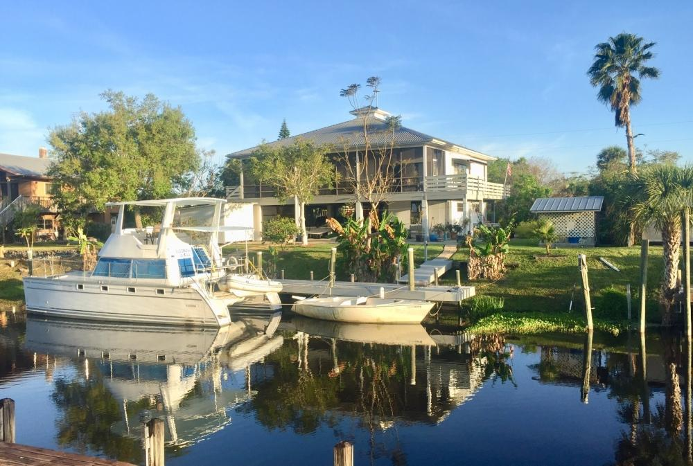 Deepwater Canal Front Home with Room to Breathe