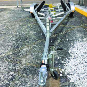 19-21 FOOT ALUMINUM BOAT TRAILER